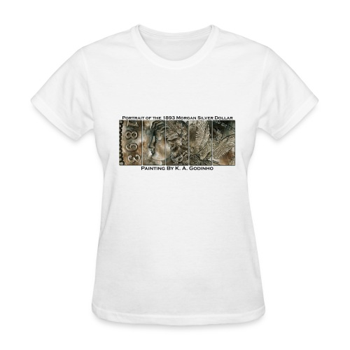 1893 Morgan Silver Dollar White Women's T-shirt - Women's T-Shirt