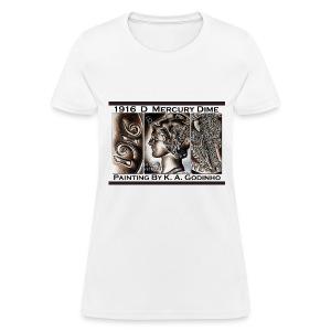 1916 D Mercury Dime White Women's T-shirt - Women's T-Shirt