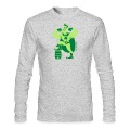 Kelly green Saint Patrick's Day Superhero Long Sleeve Shirts