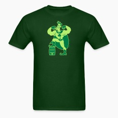 Forest green Saint Patrick's Day Superhero T-Shirts
