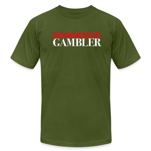 DEGENERATE GAMBLER - Men's Fine Jersey T-Shirt