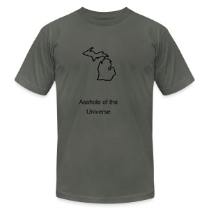 Asshole of the Universe - Men's T-Shirt by American Apparel
