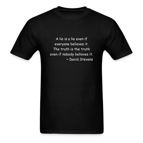 A Lie Is A Lie - Men's T-Shirt