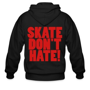 skate dont hate- freeman signature - Men's Zip Hoodie