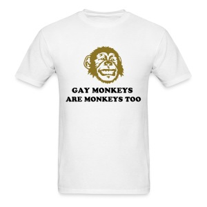 Gay Monkeys Are Monkeys Too - Men's T-Shirt