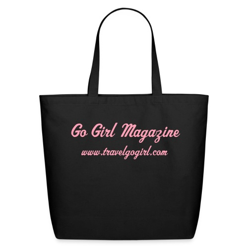 Go Girl Mag Large Tote - Eco-Friendly Cotton Tote