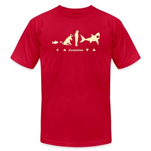 Evolution of Poker - Men's Fine Jersey T-Shirt