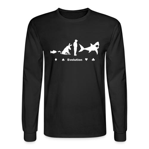 Evolution of Poker - Men's Long Sleeve T-Shirt