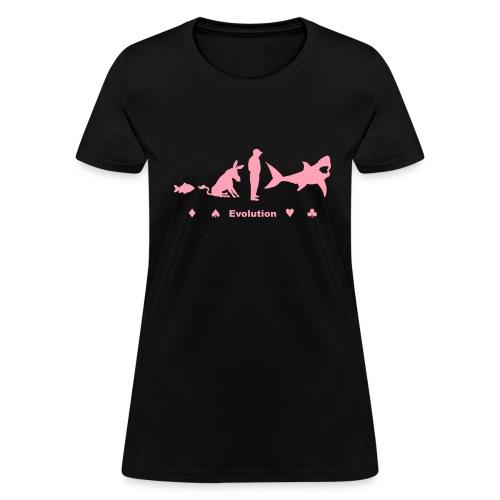 Evolution of Poker - Women's T-Shirt