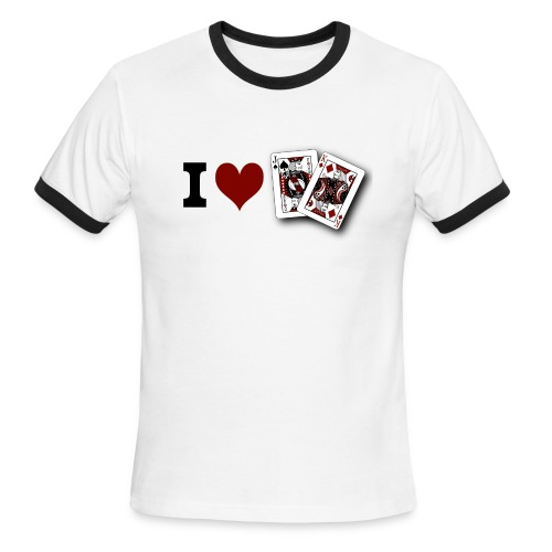 I Love Jack King off (suit) - Men's Ringer T-Shirt