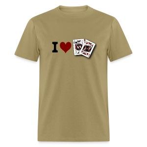 I Love Jack King off (suit) - Men's T-Shirt