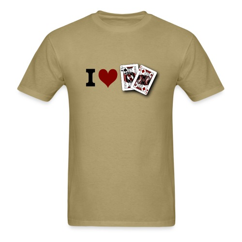 I Love Jack King off (suit) - Men's T-Shirt