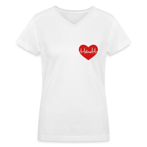 I Still have a heart - Women's V-Neck T-Shirt