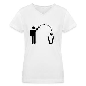 No Love! - Women's V-Neck T-Shirt