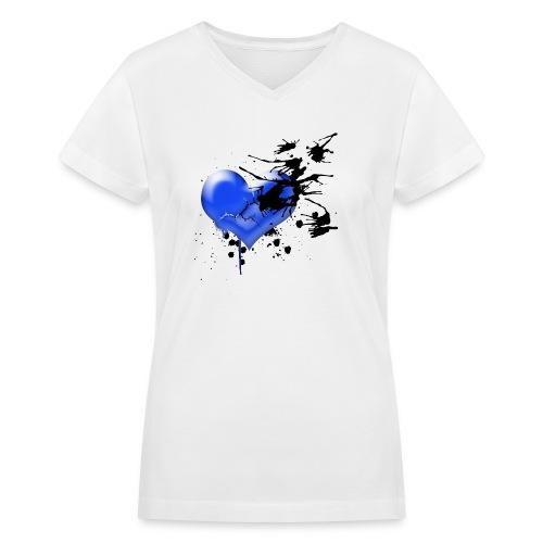 Heart Breaker - Women's V-Neck T-Shirt