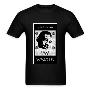Year of the Walter t-shirt (black) - Men's T-Shirt