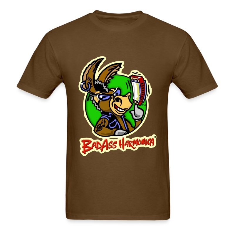 BadAss Harmonica t-shirt (brown) - Men's T-Shirt