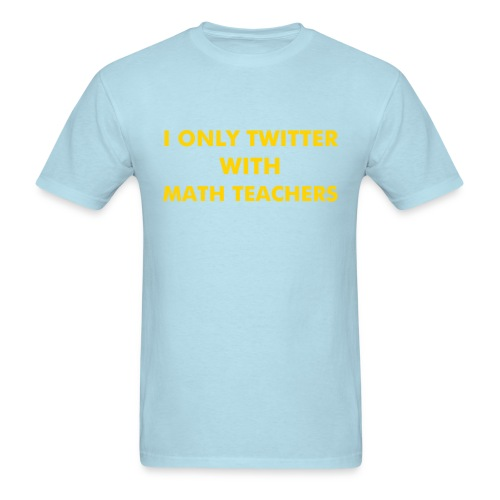 Front/Back Blue (Gold-ish Text) - Men's T-Shirt