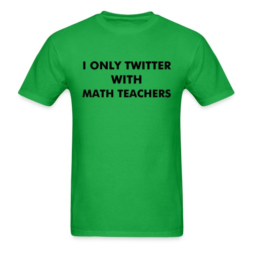 Front/Back Green (Black Text) - Men's T-Shirt