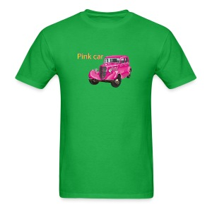 Pink car t-shirt - Men's T-Shirt