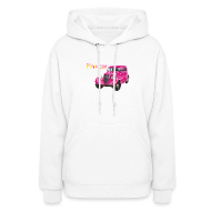 Hoodies ~ Women's Hoodie ~ Pink car t-shirt