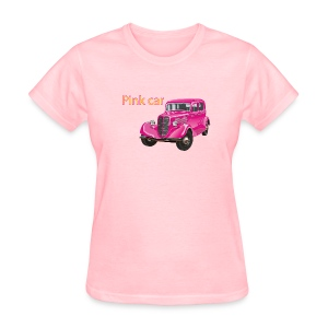 Pink car t-shirt - Women's T-Shirt