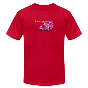 Pink car t-shirt - Men's T-Shirt by American Apparel