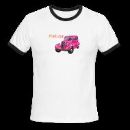 T-Shirts ~ Men's Ringer T-Shirt ~ Pink car t-shirt