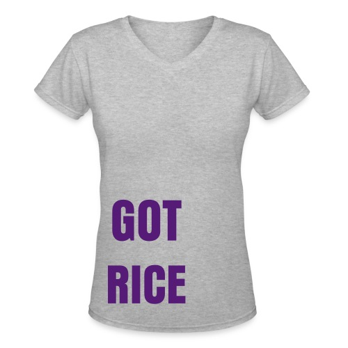 Got Rice Bitch Women - Women's V-Neck T-Shirt