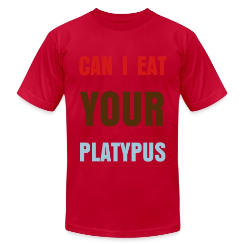 Can I Eat Your Platypus - Men's Fine Jersey T-Shirt