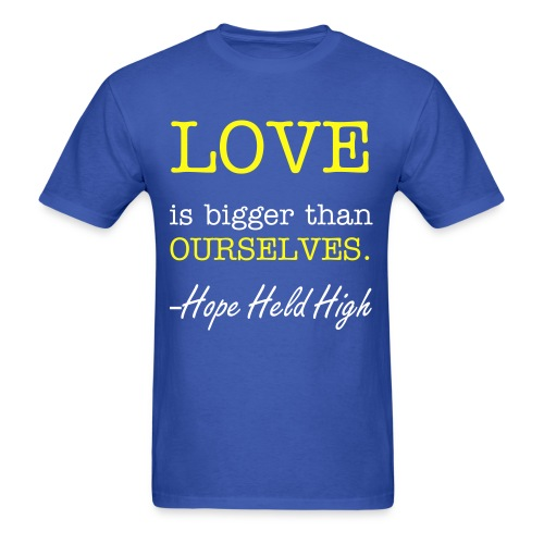 Love Ourselves. (you can change the color and font of this shirt!!) - Men's T-Shirt