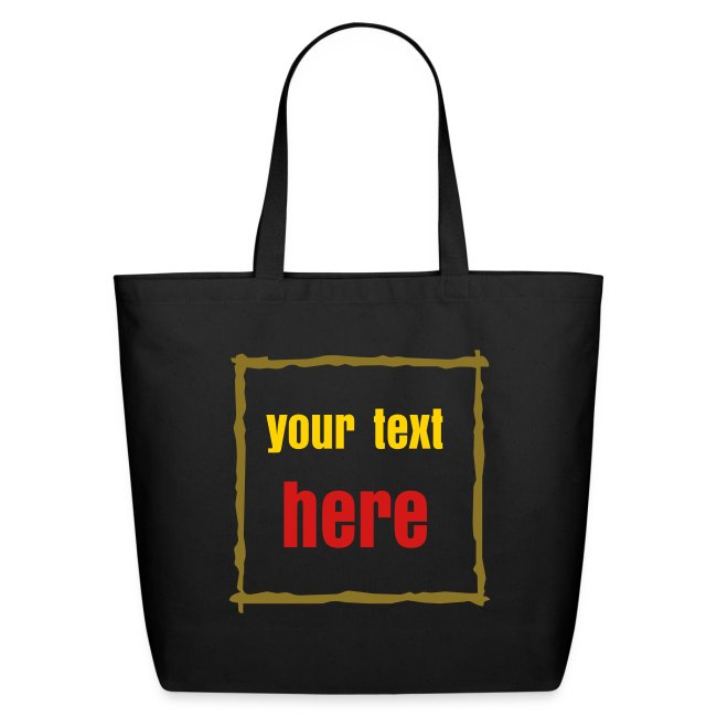 Famous t shirt rectangle text box template tote bag eco friendly rectangle text box template tote bag maxwellsz