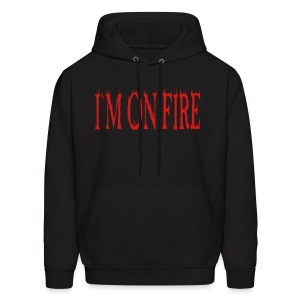 I`M ON FIRE on MEN`S HOODED SWEATSHIRT by VAN TRIBE FASHION - Men's Hoodie