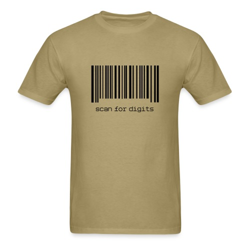 Scan for Digits - Men's T-shirt - Men's T-Shirt