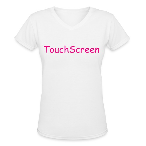 TouchScreen - Women's V-Neck T-Shirt