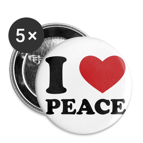 I LOVE PEACE! - Small Buttons