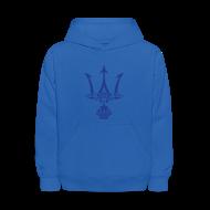 Sweatshirts ~ Kids' Hoodie ~ TRIDENT Hoodie - Poseidon - Kid Size Hoodie