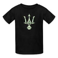 Kids' Shirts ~ Kids' T-Shirt ~ GLOW-IN-THE-DARK TRIDENT Kids T-Shirt - Poseidon Tee