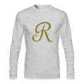 Brown R - Letter Long Sleeve Shirts