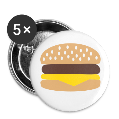 White Burger Buttons