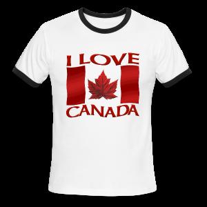 I Love Canada Men's T-shirt Canada Flag Souvenir - Men's Ringer T-Shirt