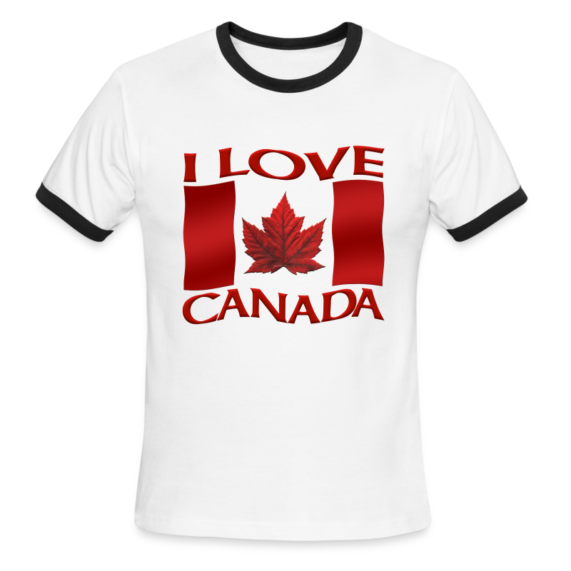 I Love Canada Men's T-shirt Canada Flag Souvenir - Men's Ringer T-Shirt