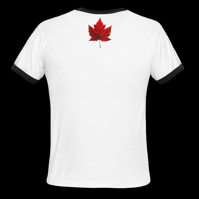 I Love Canada Men's T-shirt Canada Flag Souvenir