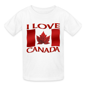 Kid's I Love Canada T-shirt Canada Flag Souvenir - Kids' T-Shirt