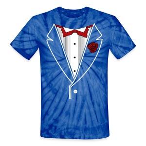 TIE DYE TUXEDO - Customizable - Unisex Tie Dye T-Shirt