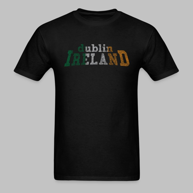 Dublin Ireland Distressed Men's Standard Weight T-Shirt - Men's T-Shirt