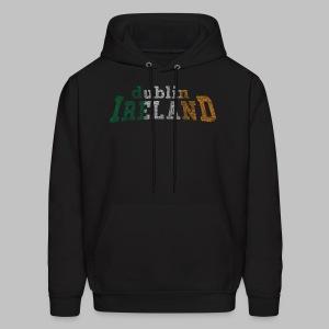 Dublin Ireland Distressed Men's Hooded Sweatshirt - Men's Hoodie