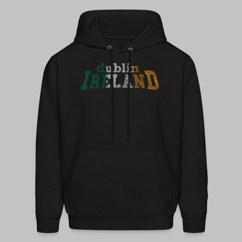 Dublin Ireland Distressed Men's Hooded Sweatshirt - Men's Hoodie