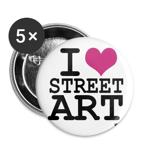 I love Steet Art - Buttons large 2.2'' (5-pack)