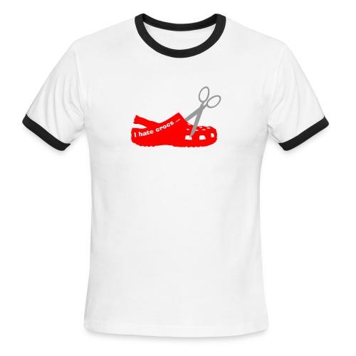 Scissor Croc Ringer Tee - Men's Ringer T-Shirt